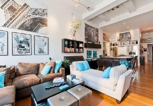 Stunning Living Room Interior In Cozy Apartment Design In
