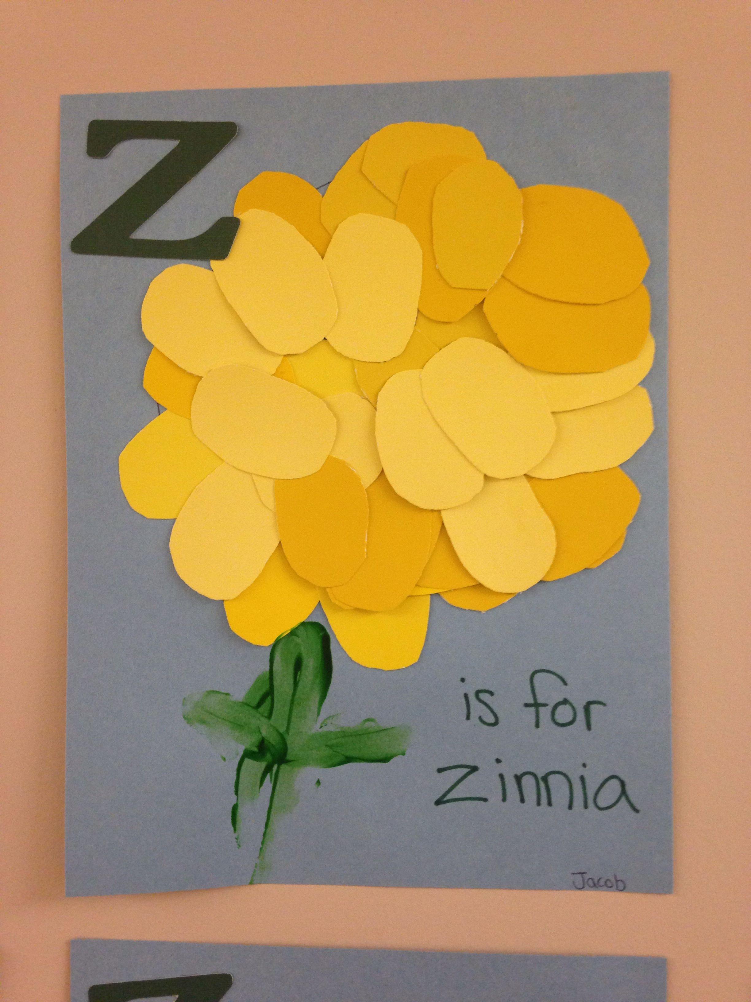 Z Is For Zinnia Preschool Oval Craft Letter Z Spring