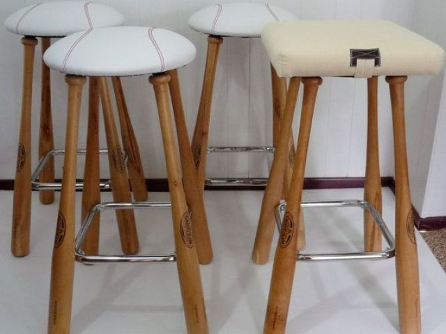 Image result for DIY baseball bat barstool