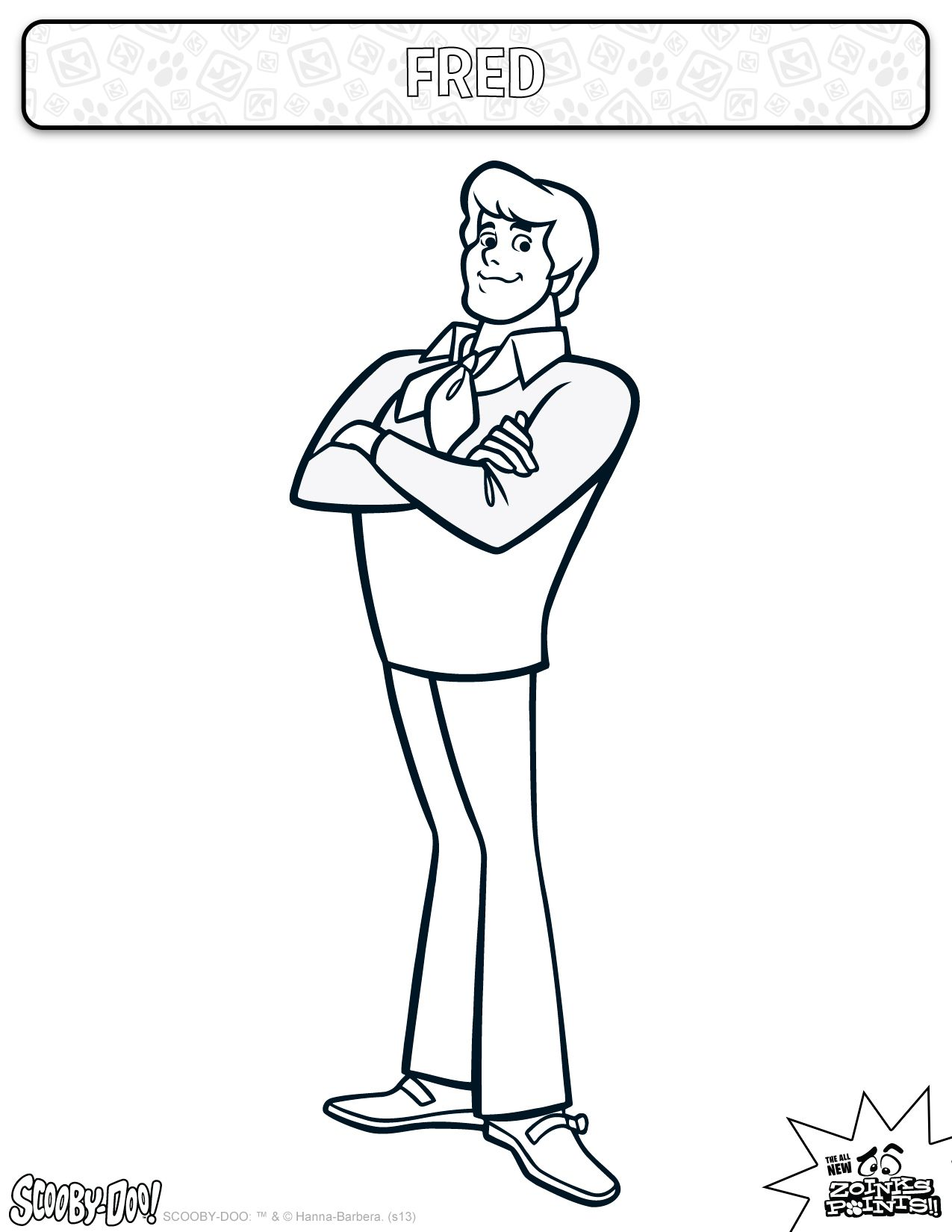 Fred Coloring Sheet Activities Coloring Kids