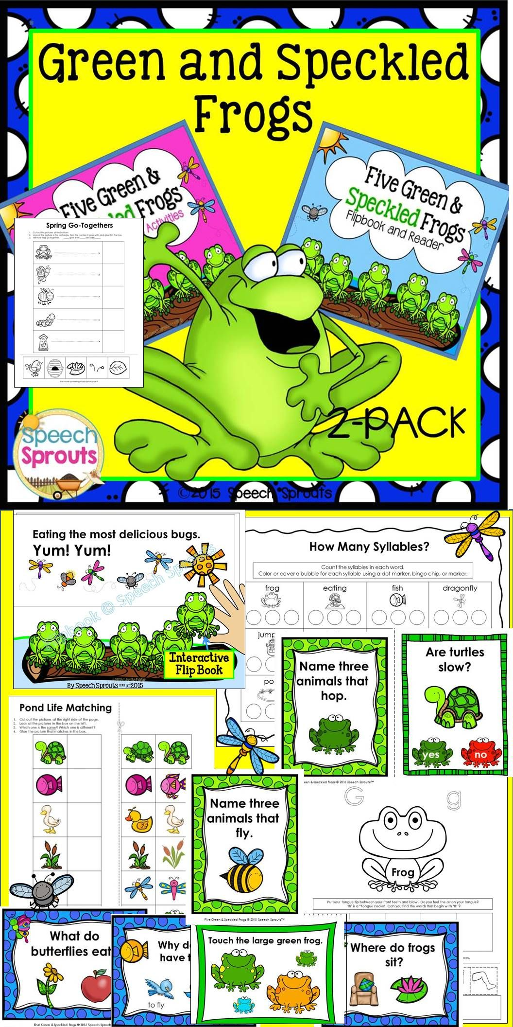Five Green And Speckled Frogs Speech And Language Therapy