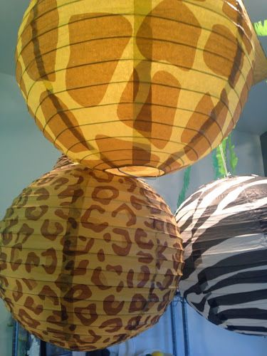 Animal print paper lanterns - perfect for the zoo or ...