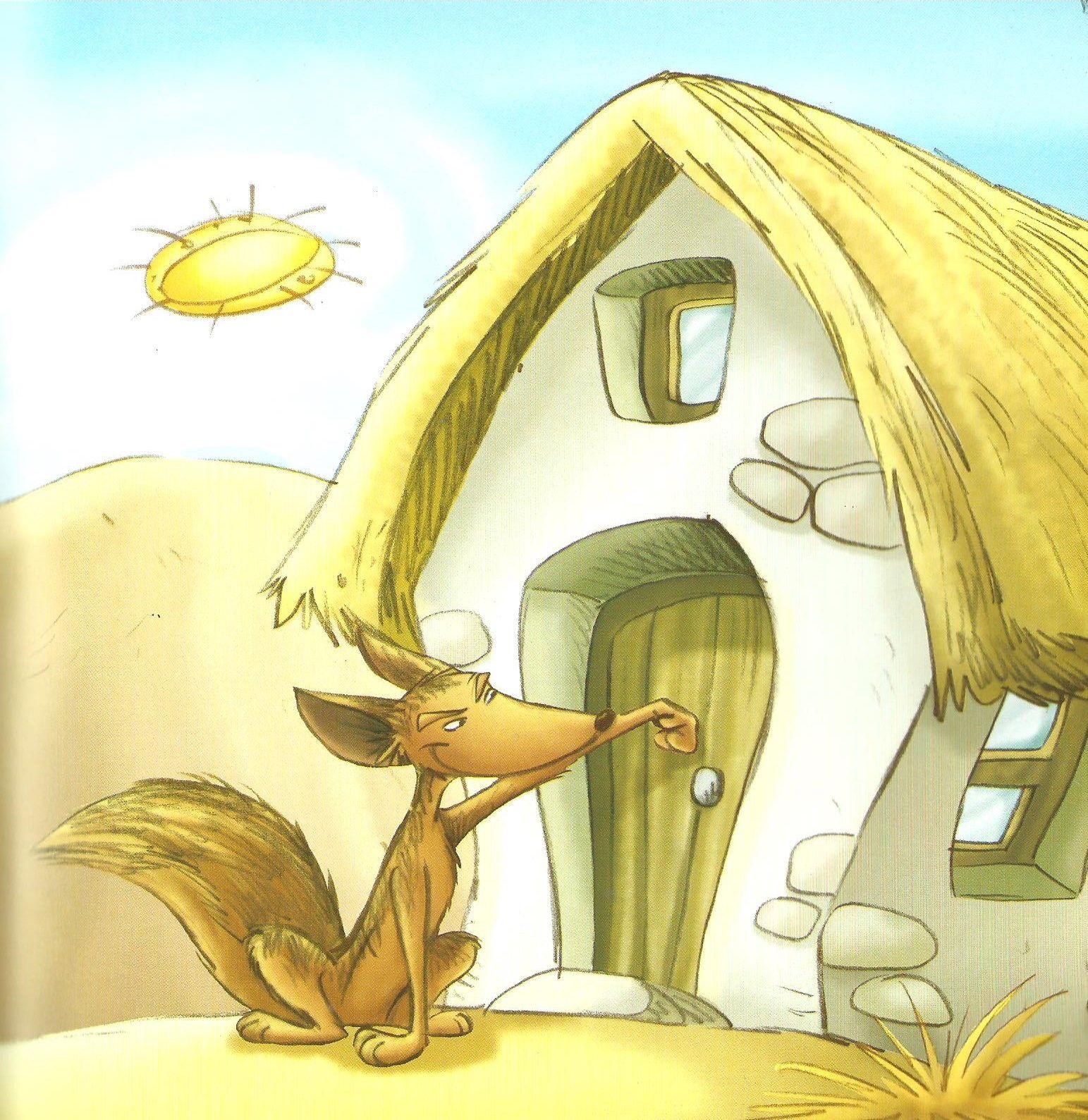 Mientras Tanto El Lobo Flaco Habia Llegado A La Casa De La Abuela Y Golpeo La Puerta Toc Toc