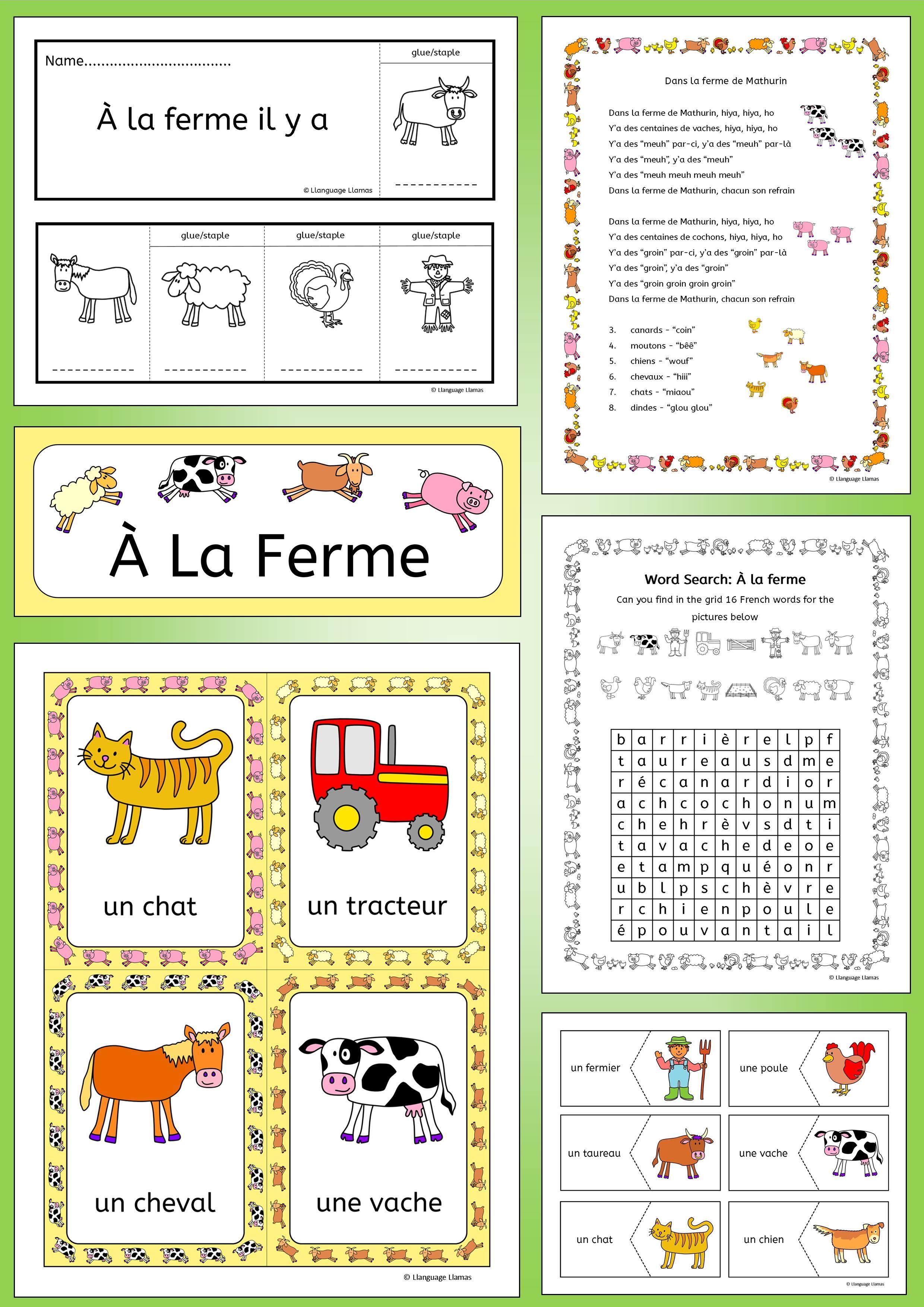 French F Rm Nd F Rm Nim Ls Voc Bul Ry À L Ferme Book