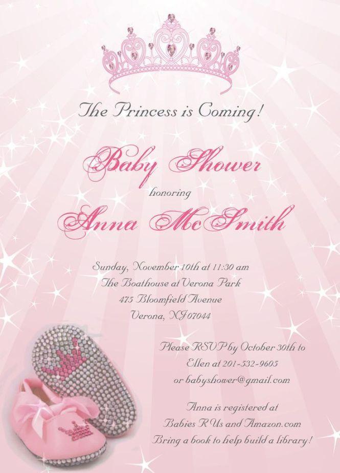 princess baby shower invitations invitation