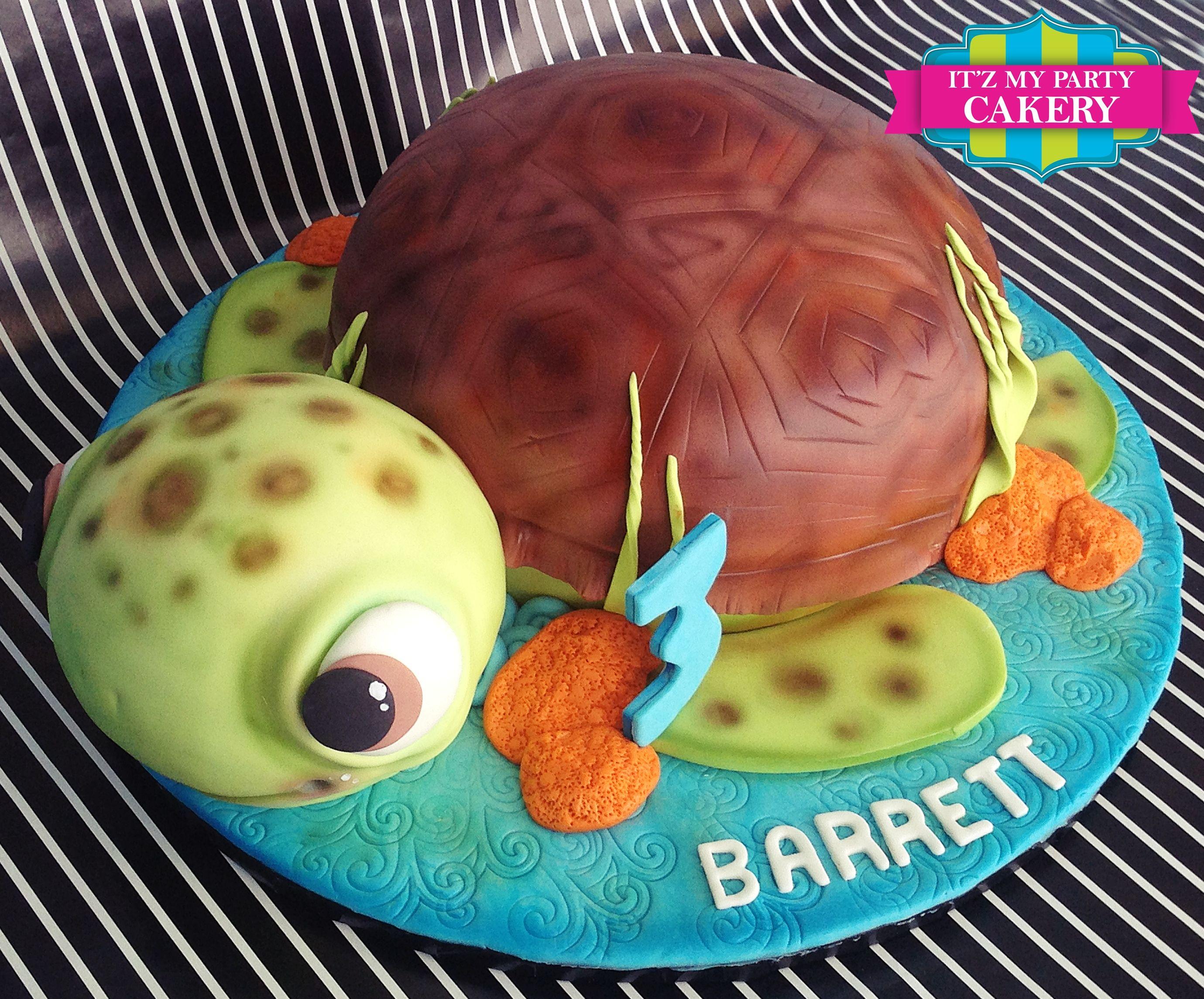 Sea Turtle Birthday Cake