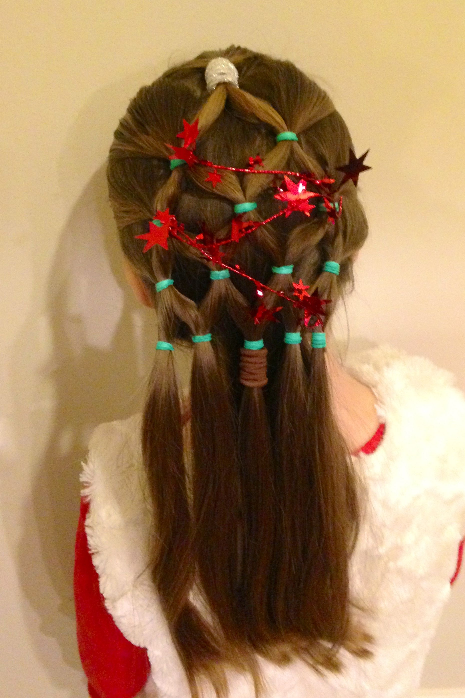 EASY Christmas tree hairstyle My dos