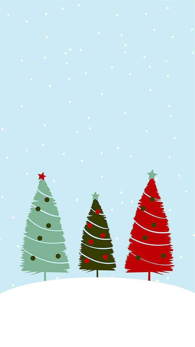 Pin by Mina Samokovlieva on Holiday Magic   Pinterest   Christmas     We three trees   wallpaper lock screen background