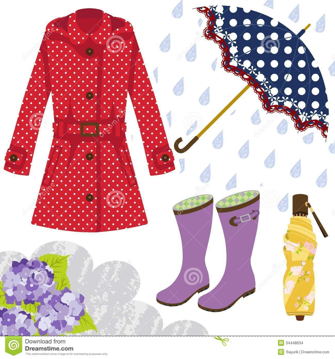 Rainy Clothes Clipart Rain Gear For Women