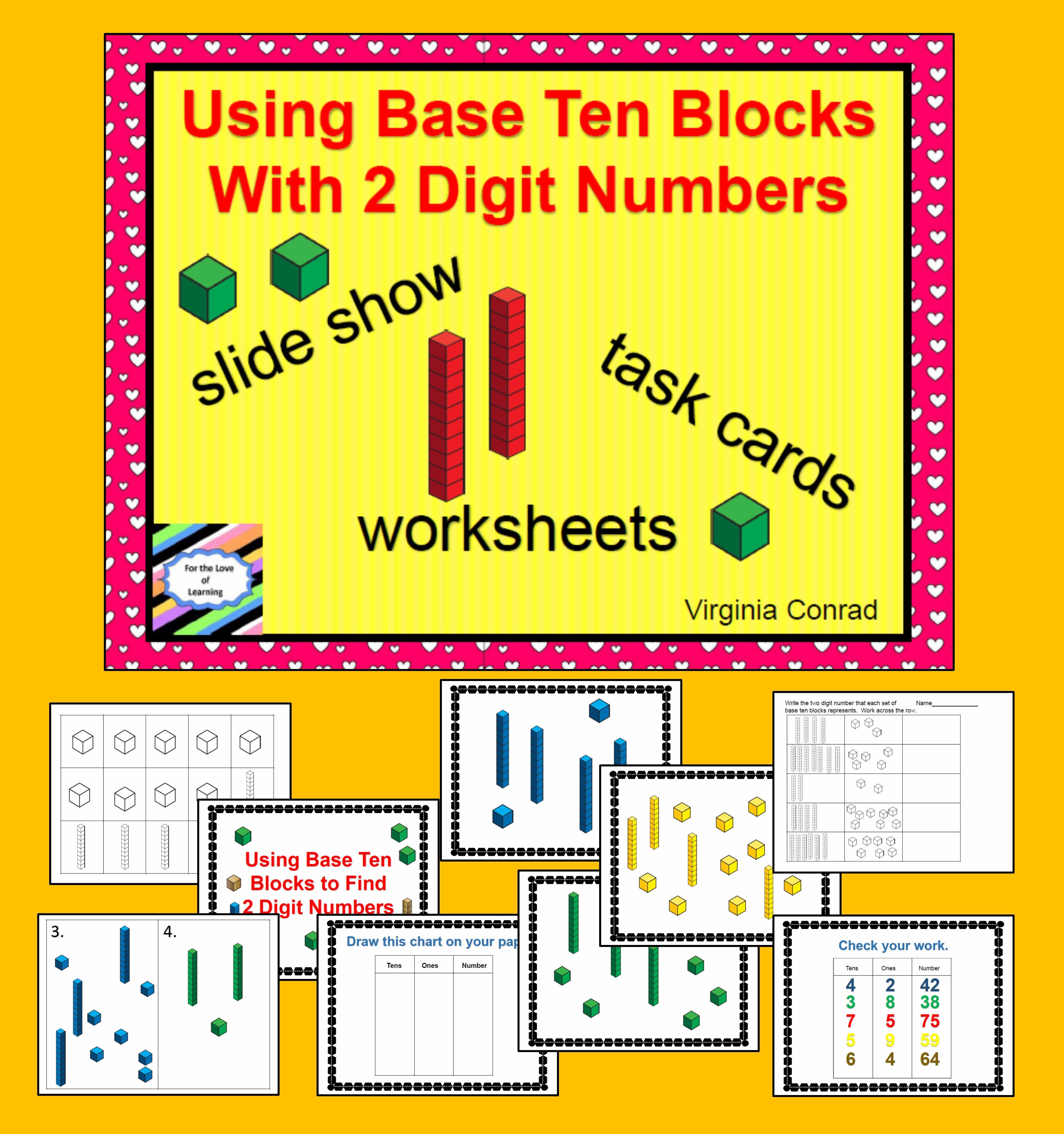 Base Ten Blocks Two Digit Numbers