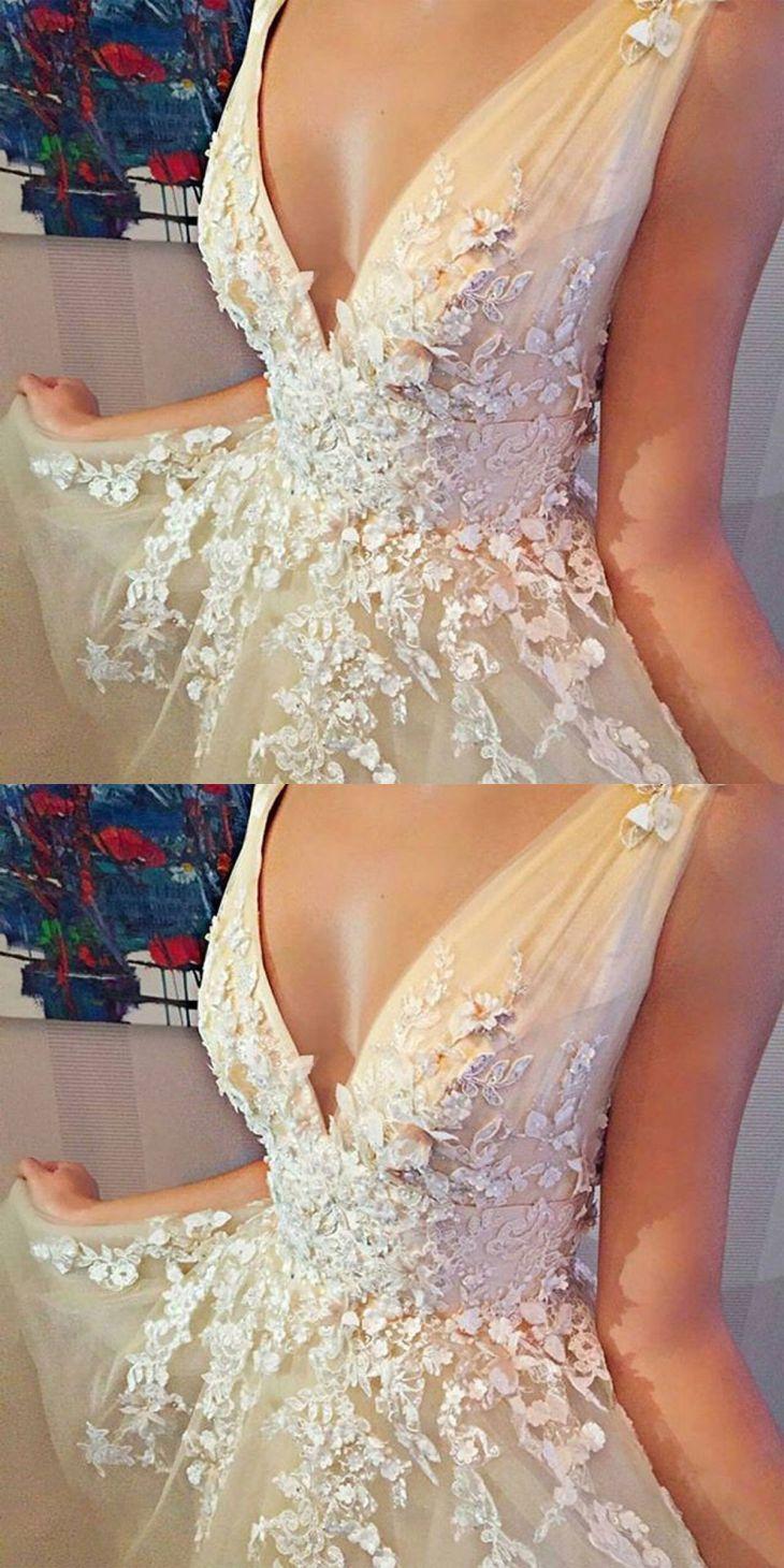 ALine VNeck Sleeveless Short Tulle Homecoming Dress with Beading