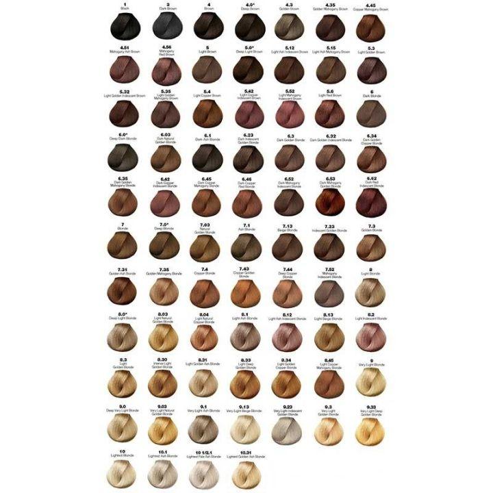 Loreal Professional Hair Color Chart Majirel Todayss
