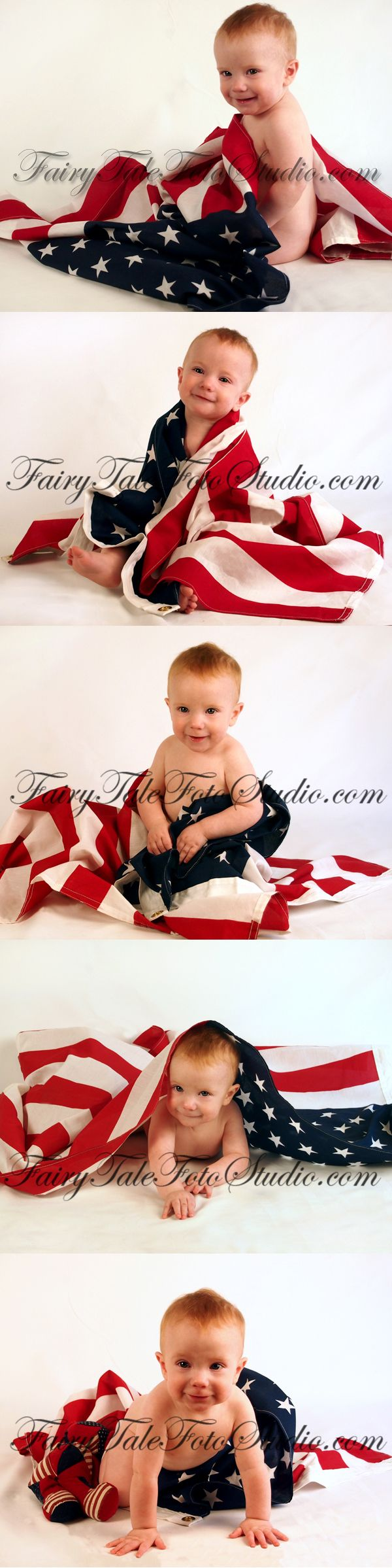 Baby Wrapped in American Flag 4th of July 8 Months Old ...