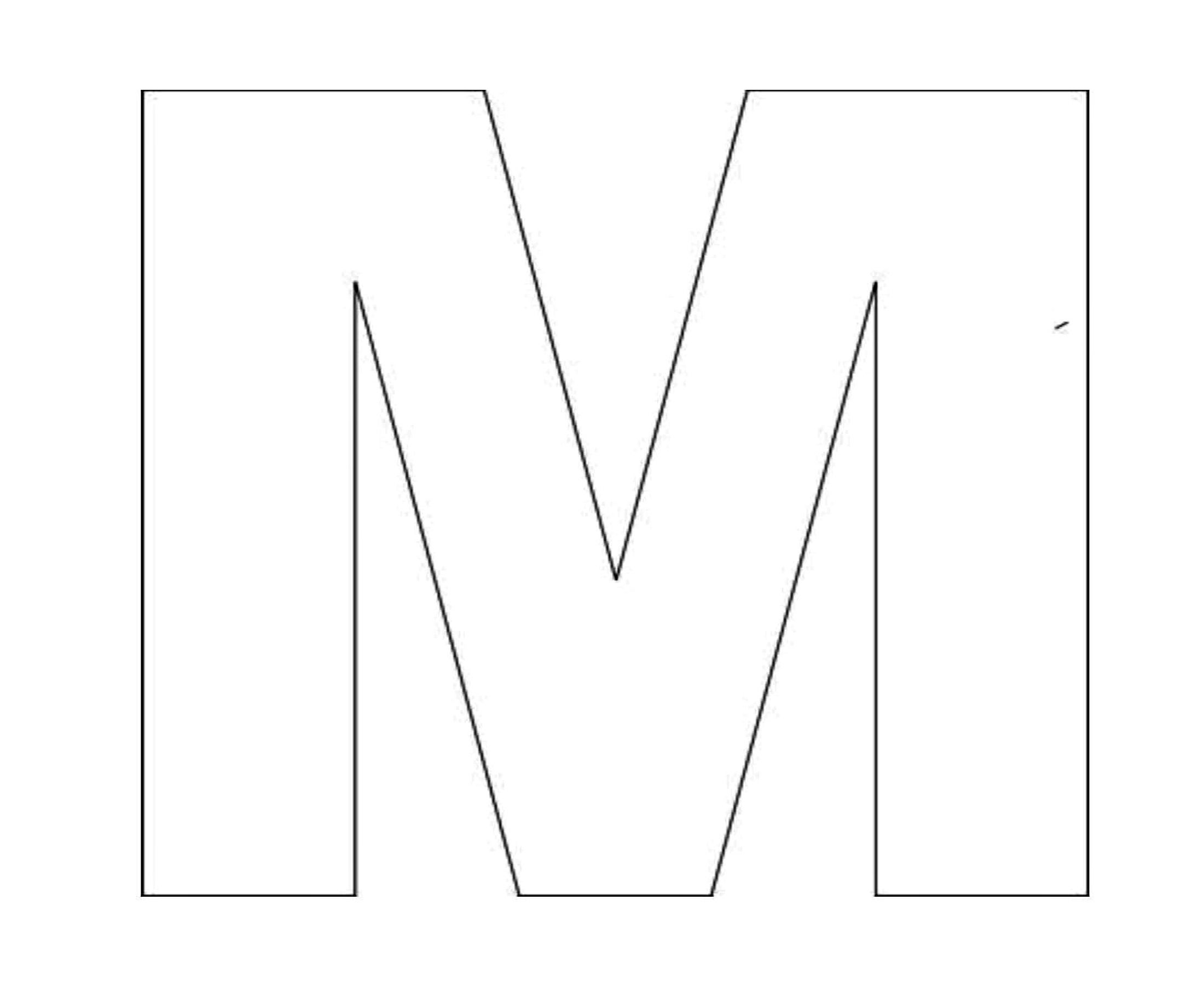 Alphabet Letter M Template For Kids 2 200 1 800 Pixels
