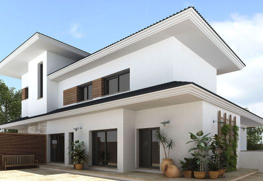 Decoration Modern Colors To Paint A House Exterior In White And Black Combination With Potted