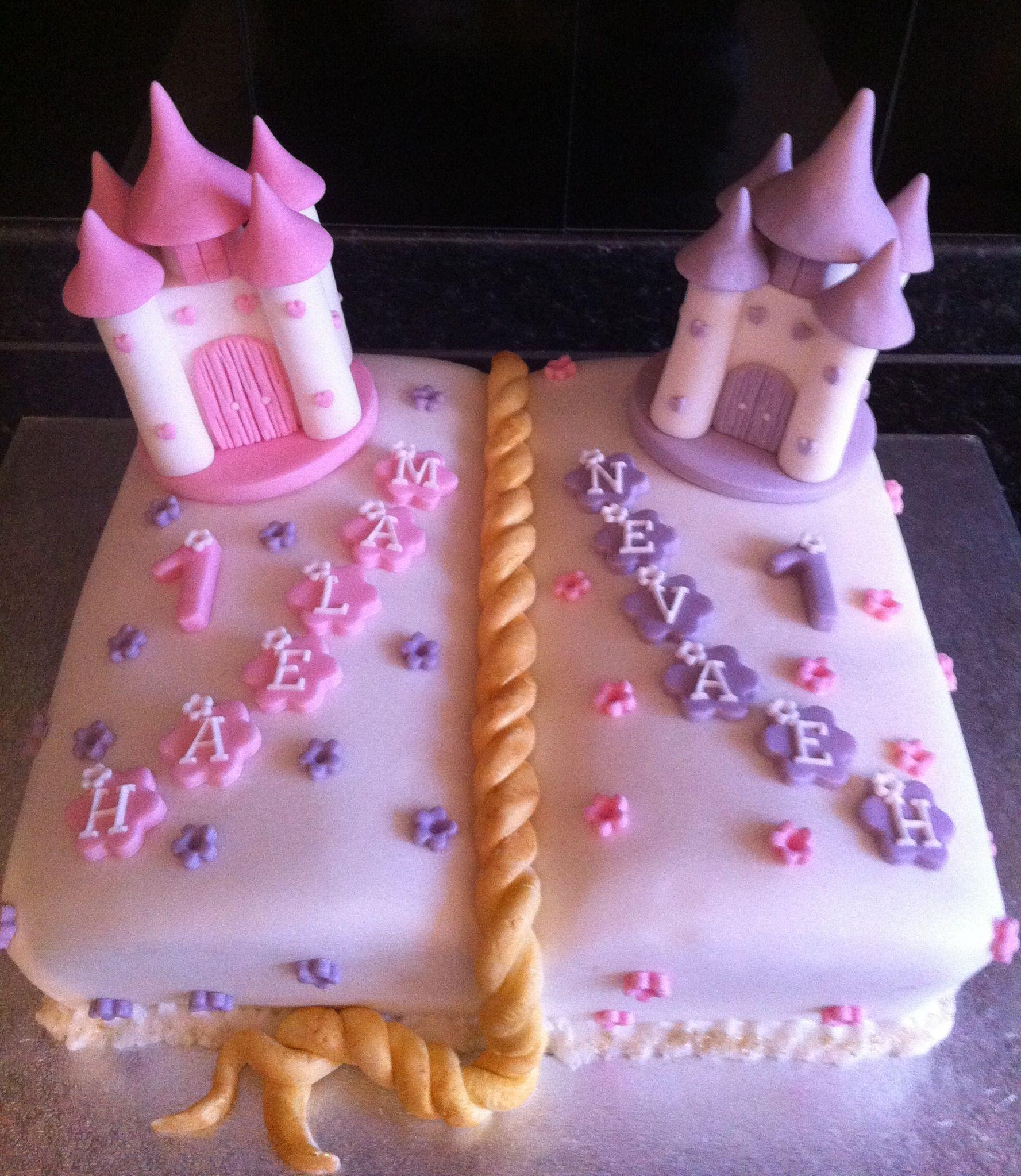 Twin Girls Birthday Cake