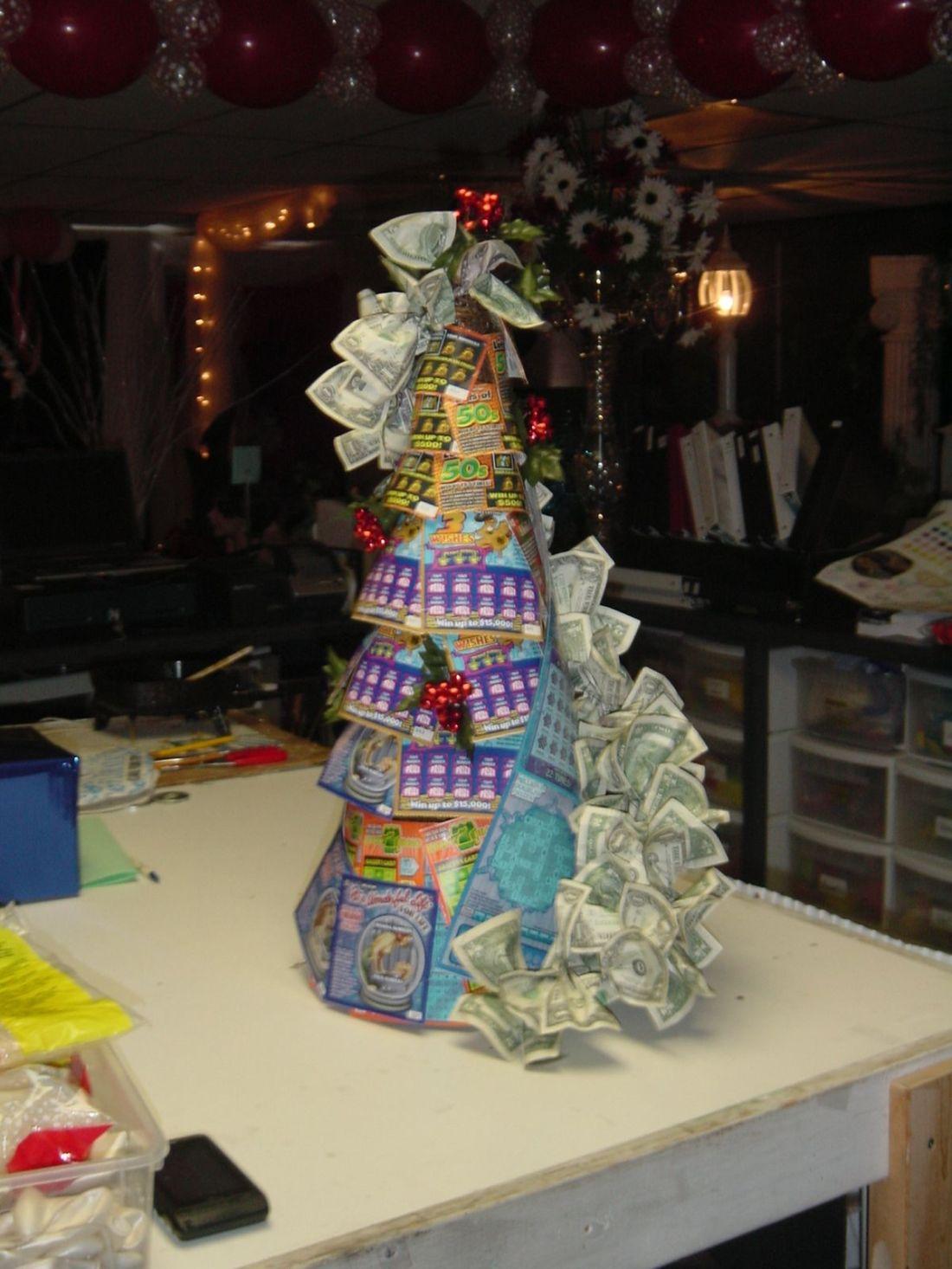 Lottery christmas tree lotterymoney bouquets