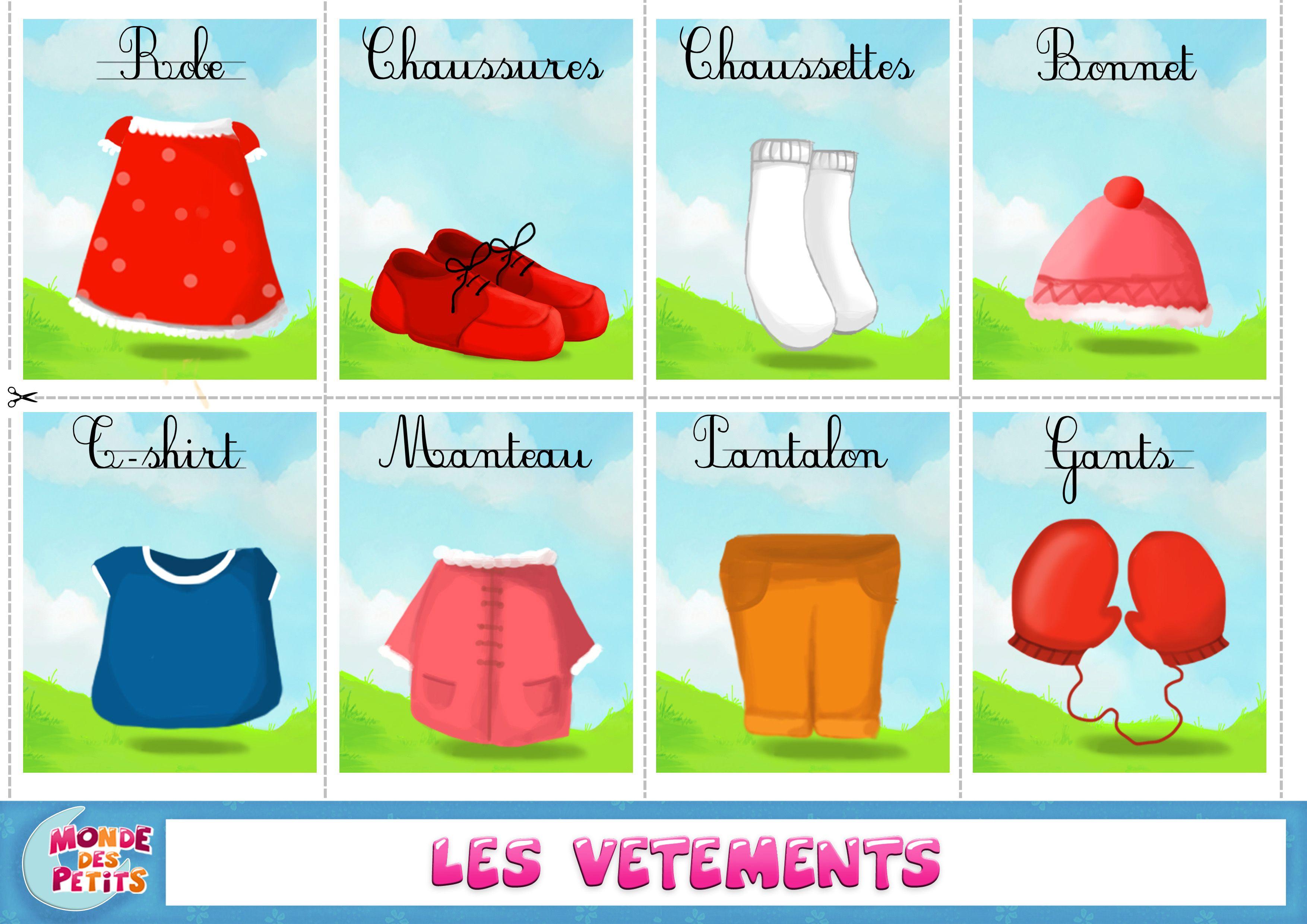 Apprendre Vetements Francais
