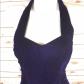 Vtg s purple velvet prom dress crinoline halter vtg s purple