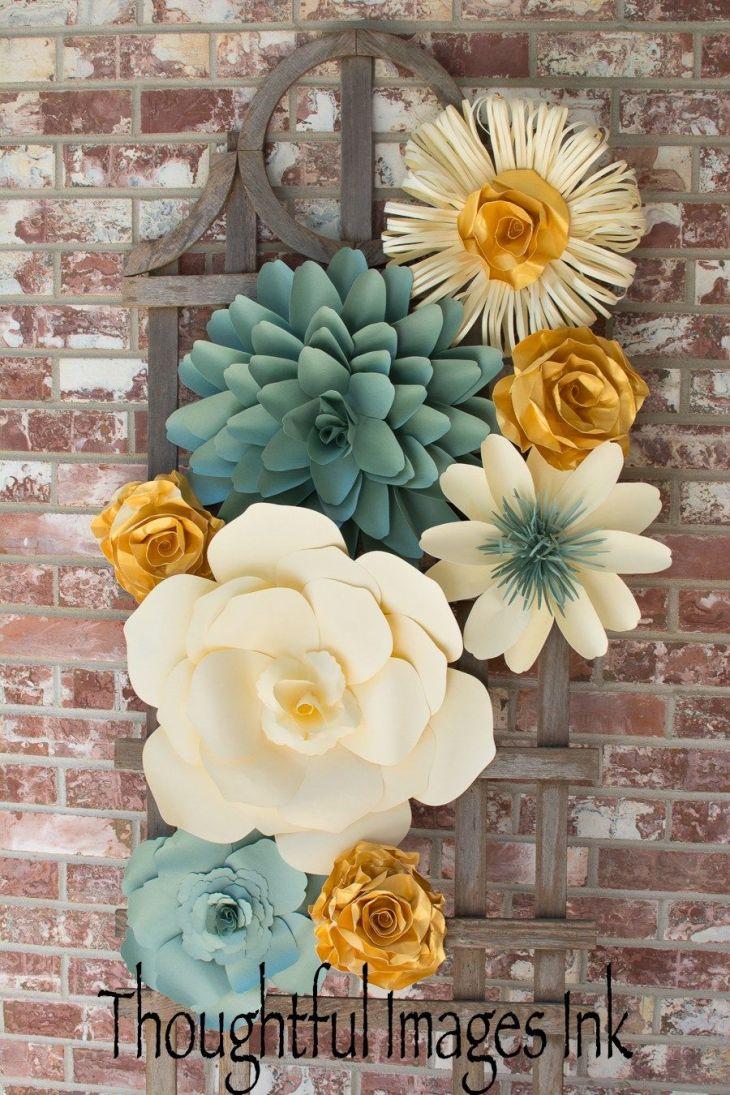 Paper flower display  DIY Decorations  Pinterest  Display Flower