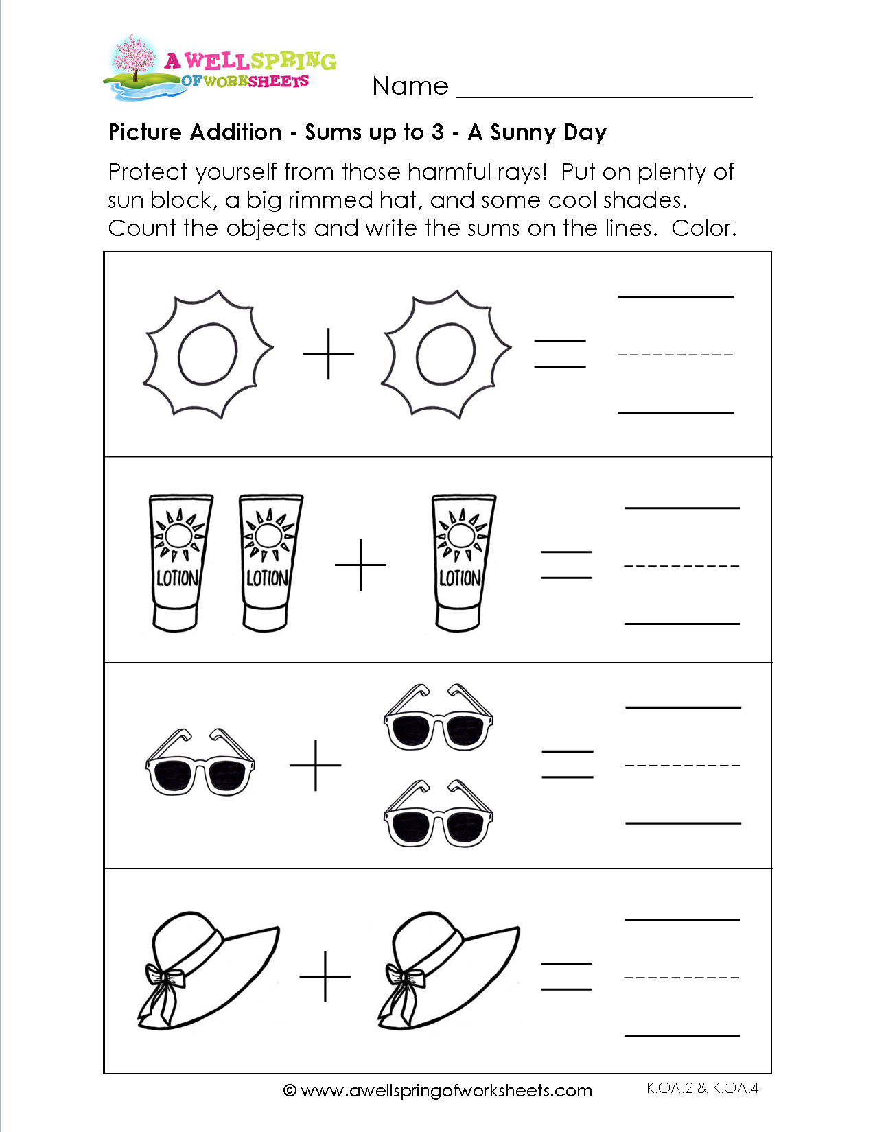 Picture Addition Worksheets Are A Great Place To Start Learning To Add Take A Look At These