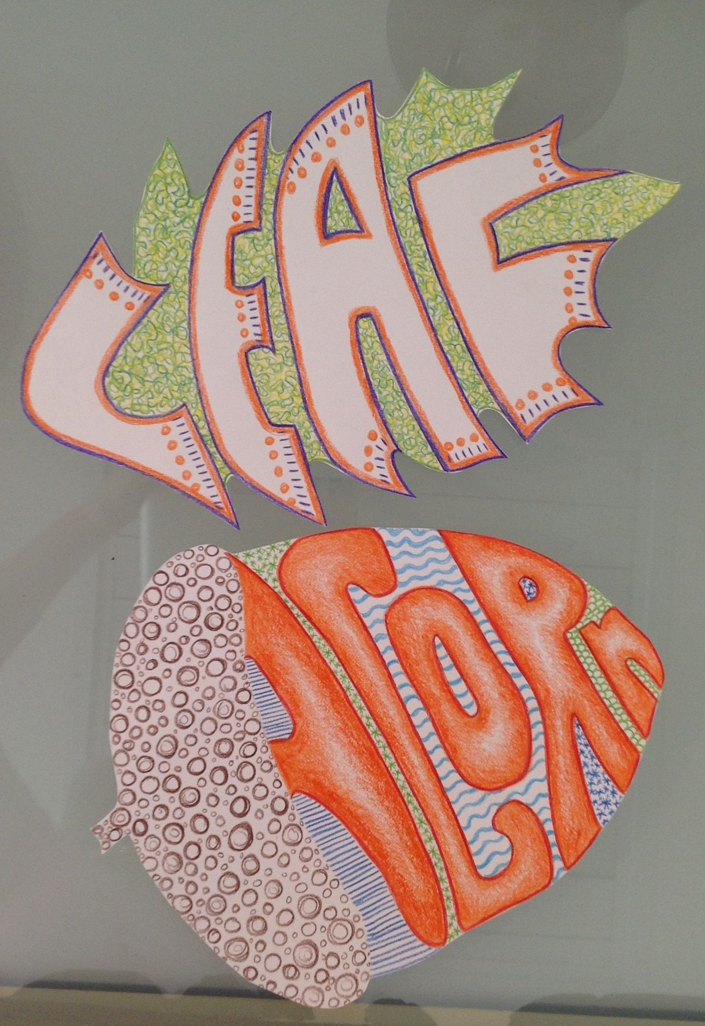 Fall Words Shapes And Patterns My 5th Graders Did These For The First Fall Art Lesson Using