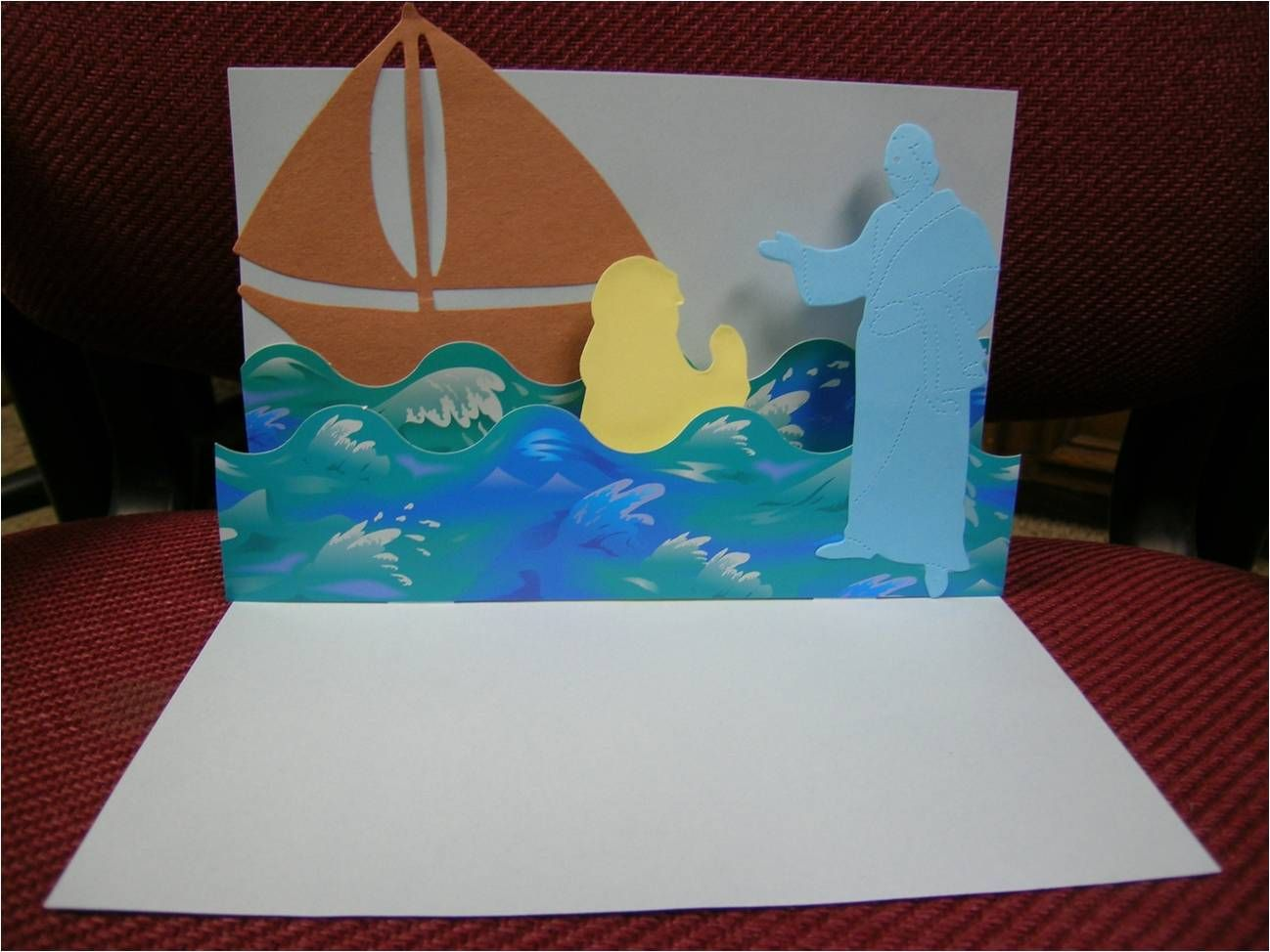 Bible Class Creations Jesus Walks On Water Pop Up Page
