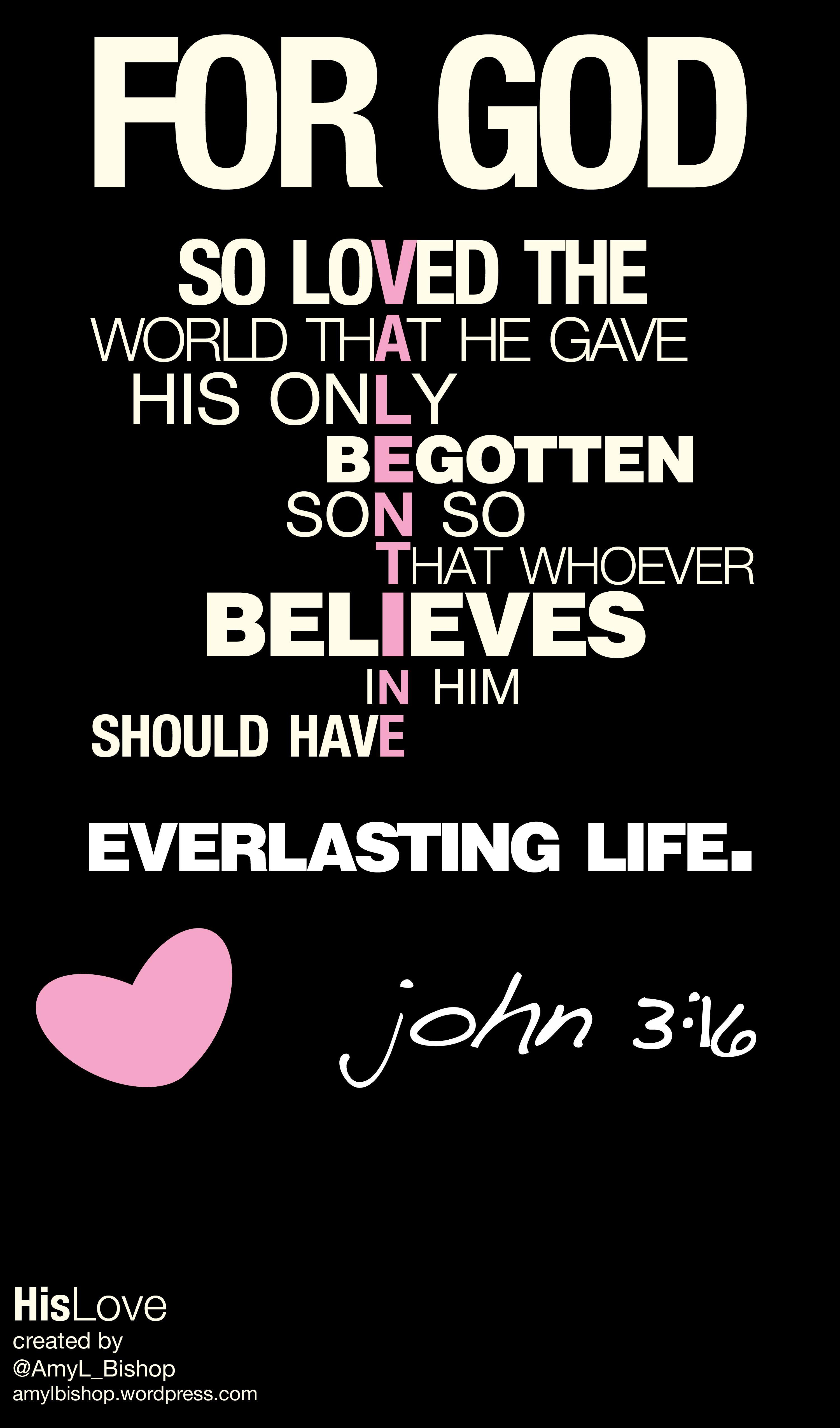 Happy Valentines Day John 3 16 Scripture Jesus Infographic Printable