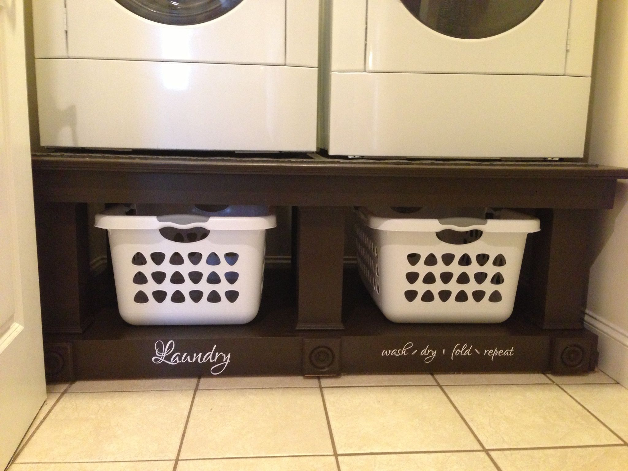 The New Laundry Pedestal Built By My Hubby
