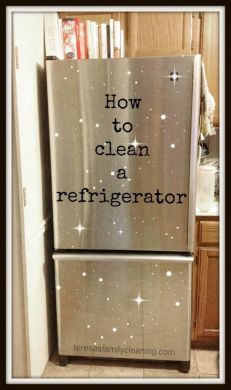 How to clean a refrigerator   GOOD THINGS Clean   Fresh   Pinterest     How to clean a refrigerator  using vinegar and hot water  no cleaners  chemicals