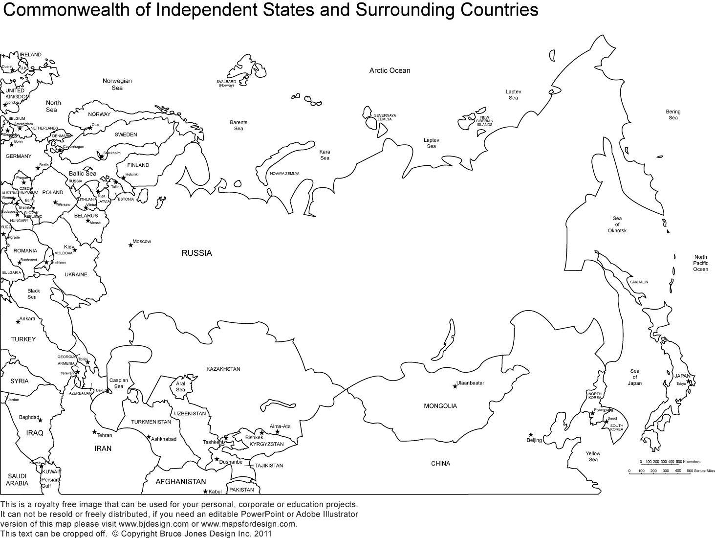 Week 11 Eastern Europe Russia Map Printable Blank Map