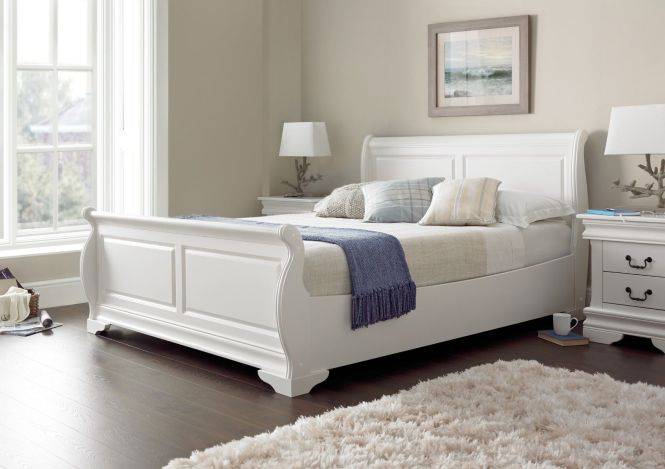 The Louie White Sleigh Bed Is Perfect Addition To Any Bedroom A New And