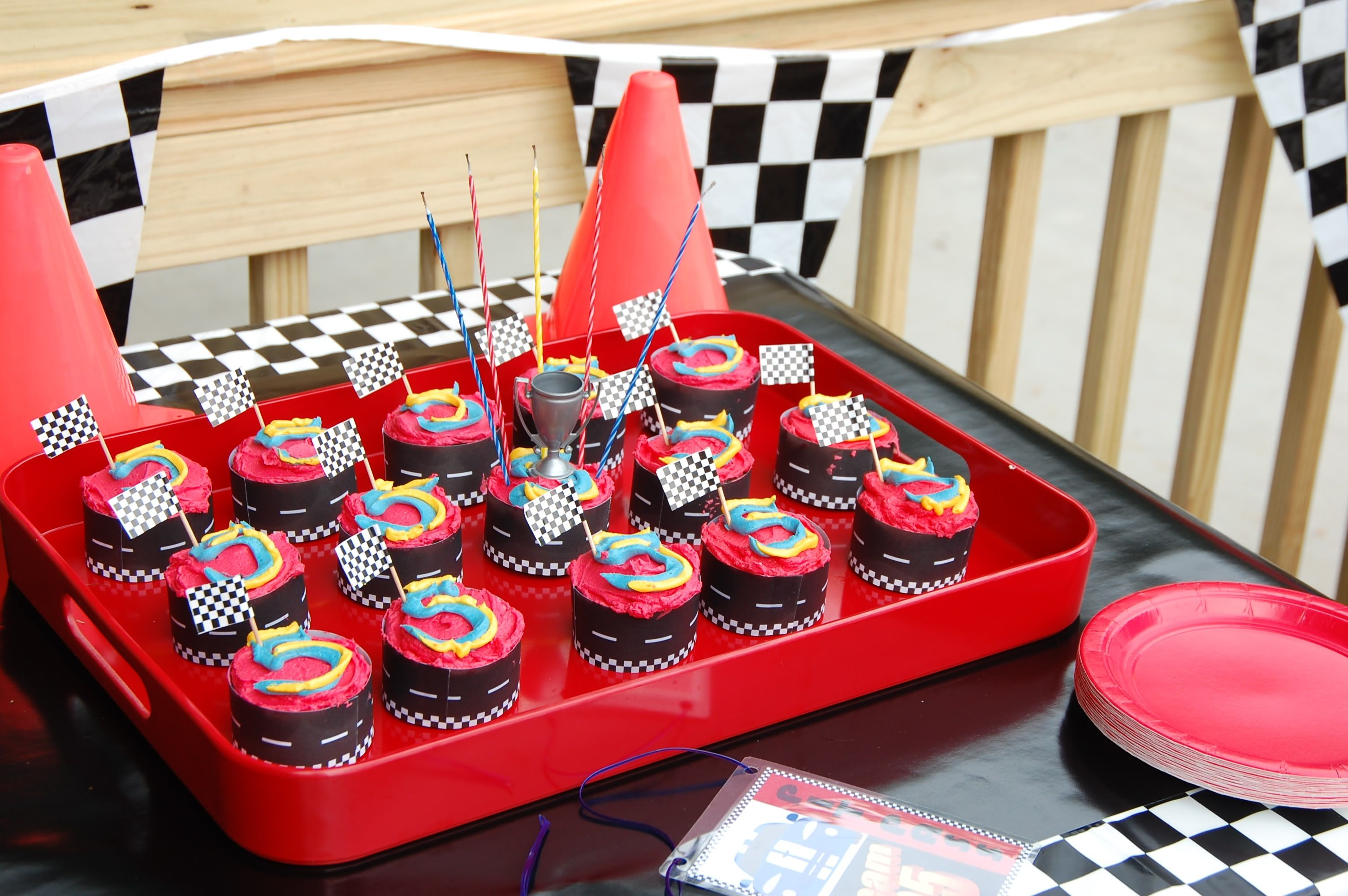 Race Car Party Cupcakes