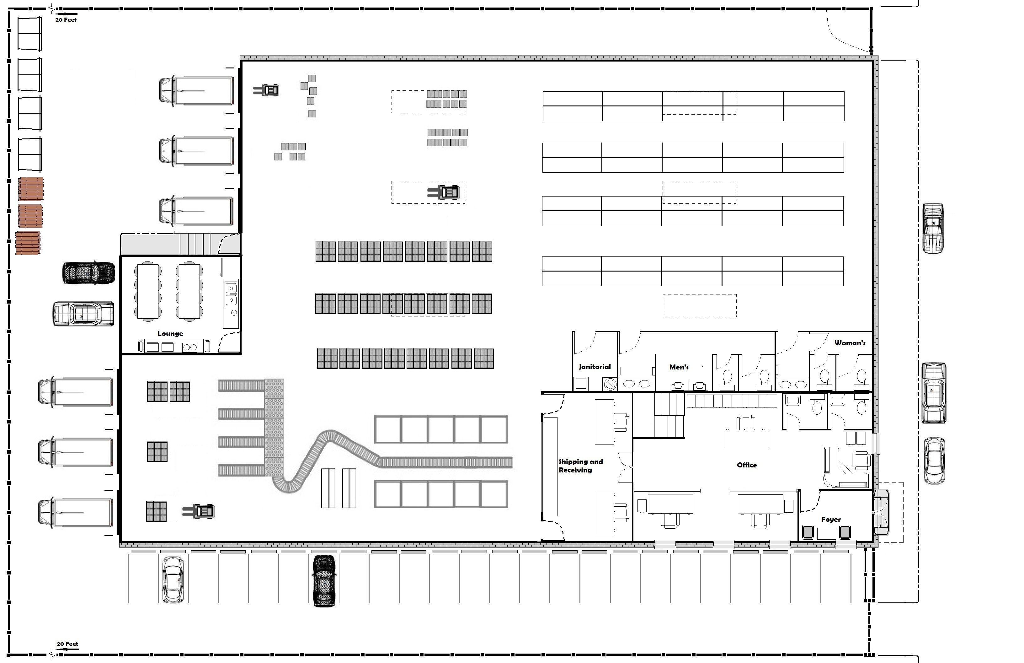 Floor Plan Of Warehouse - Google Search
