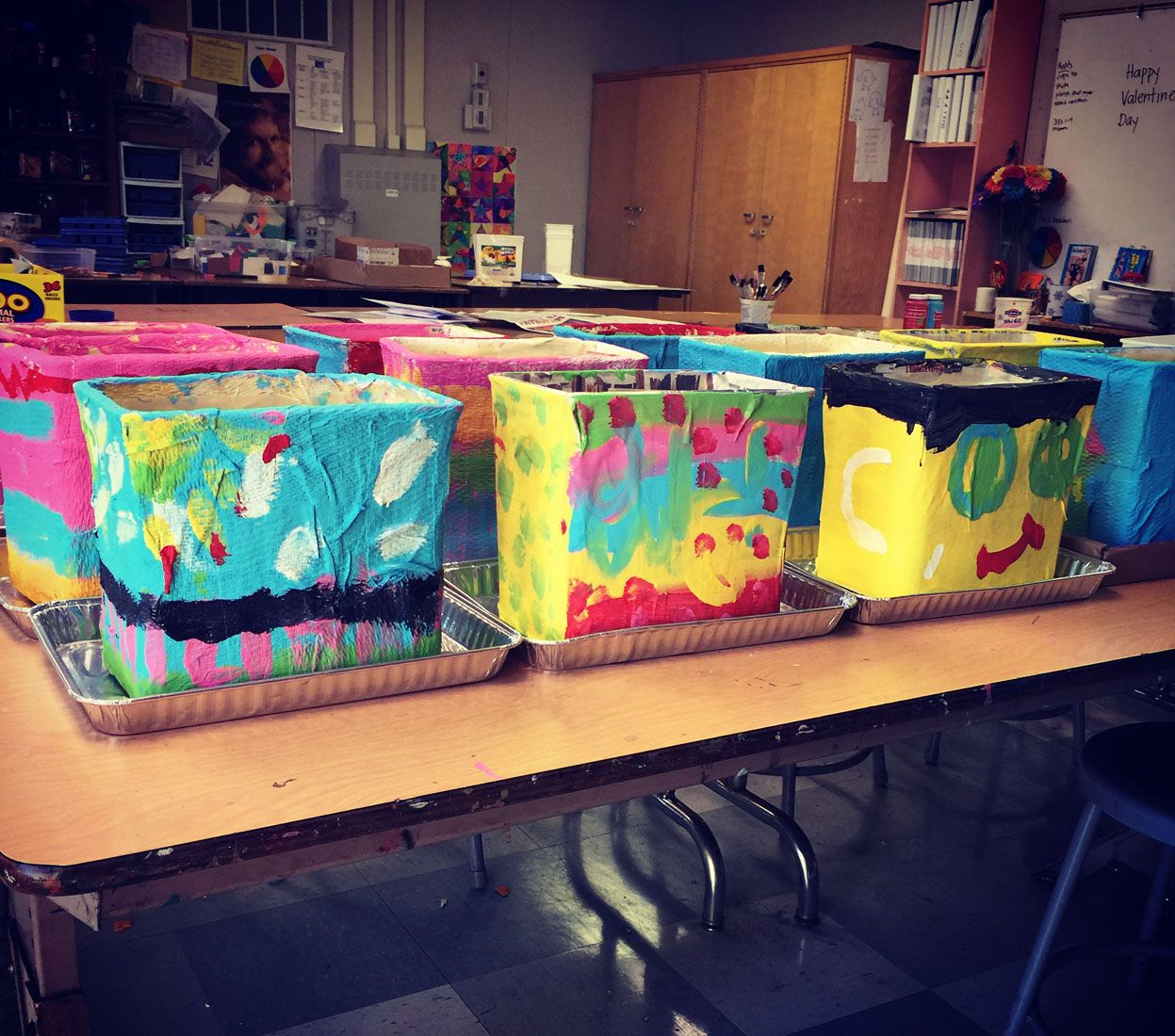 Paper Mache Cartons Painting Day