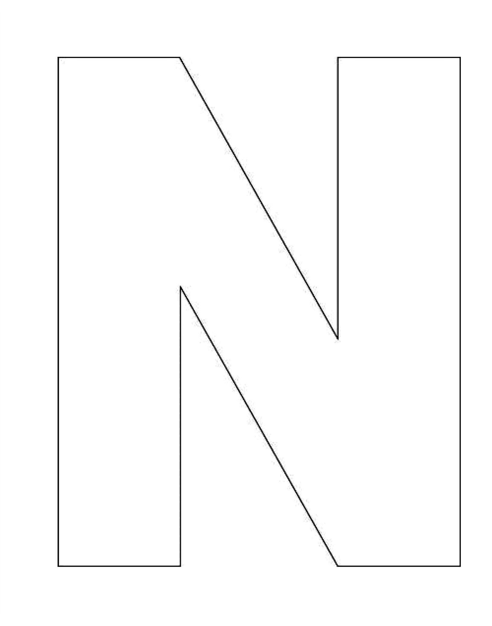 Alphabet Letter N Template For Kids