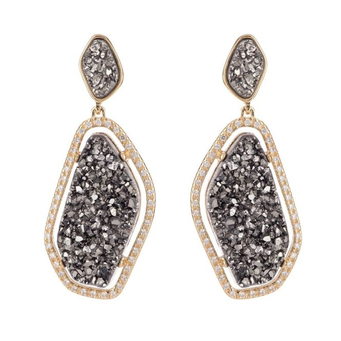 Druzy Chandelier Earrings By Marcia Moran