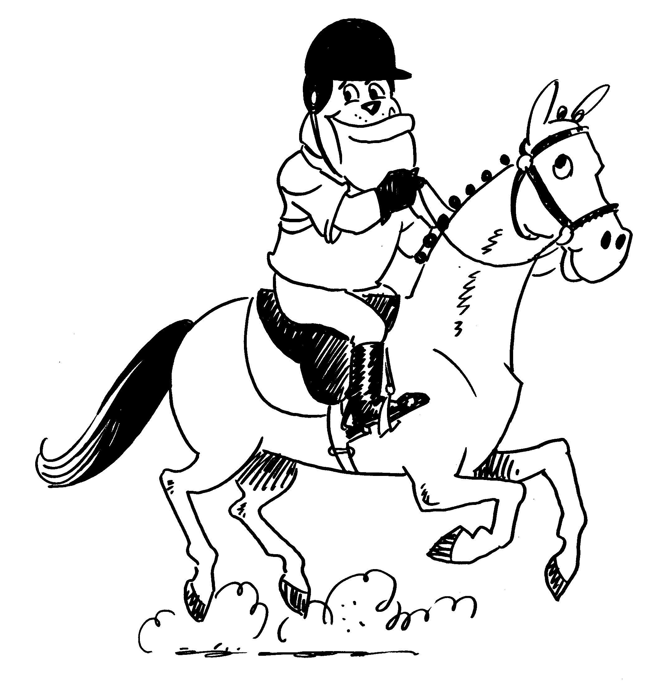 Uga Equestrain Dawg Coloring Sheet Printable