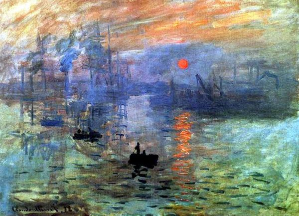"""Claude Monet's """"Impression, Sunrise"""" inspired the name for ..."""
