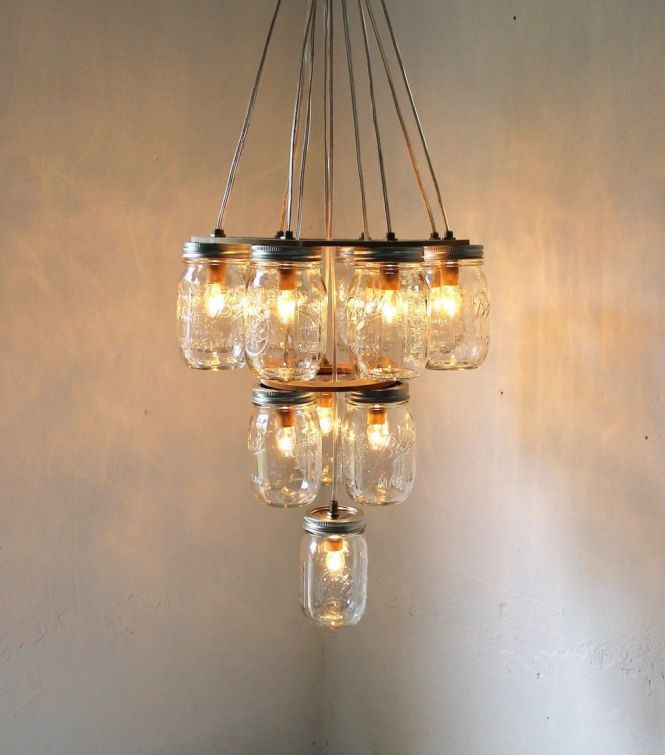 Mason Jar Chandelier Photo By Boots N Gus Via Project Wedding