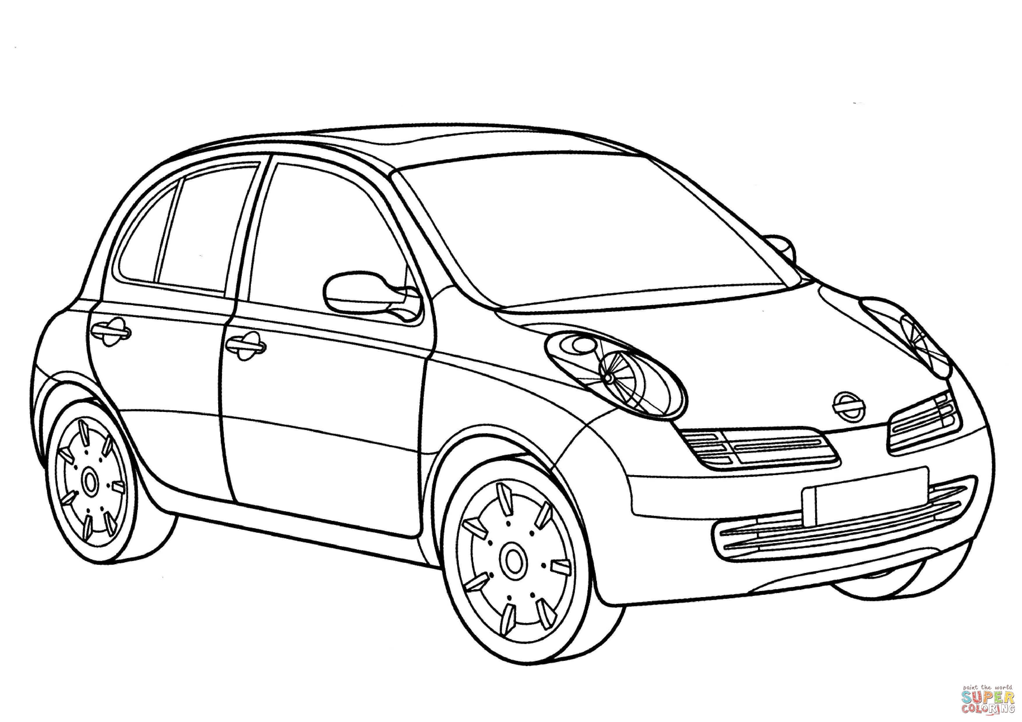 Nissan Micra Coloring Page