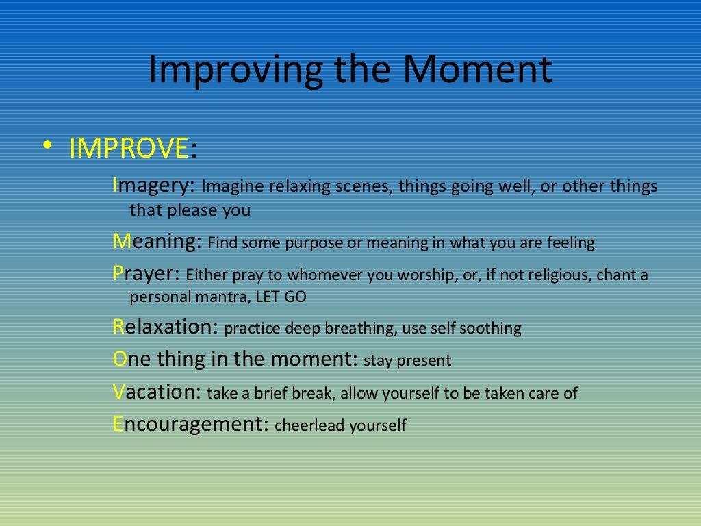 Dbt Improve The Moment