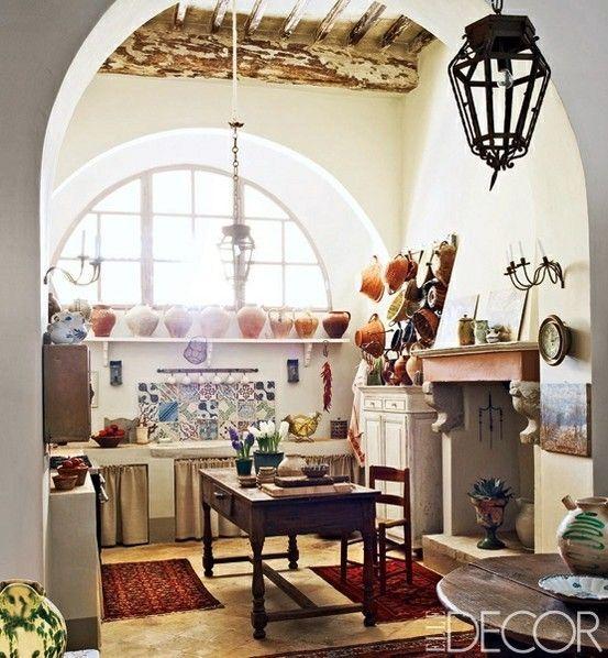 the bohemian kitchen boho kitchen from elle decor interiors pinterest on boho chic decor living room bohemian kitchen id=93590