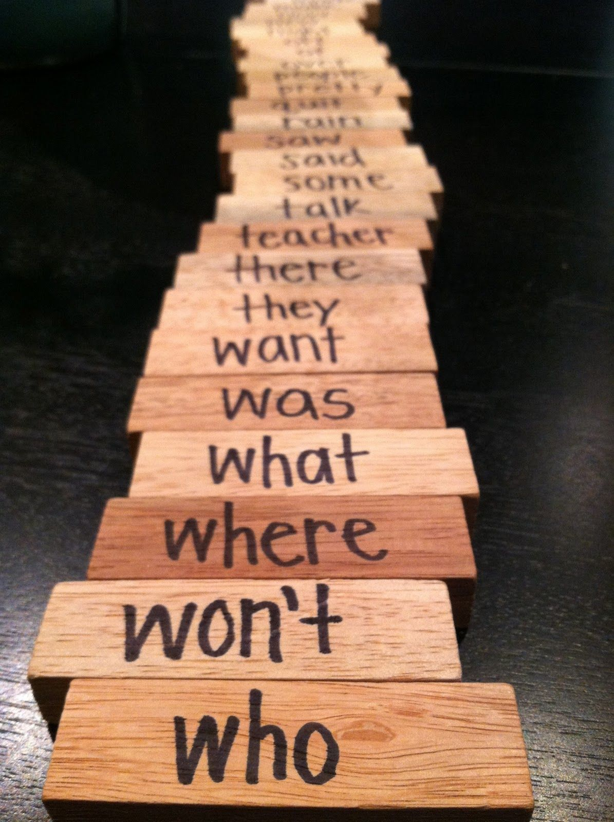 Sight Word Jenga Personally Did This One And It Was A Big