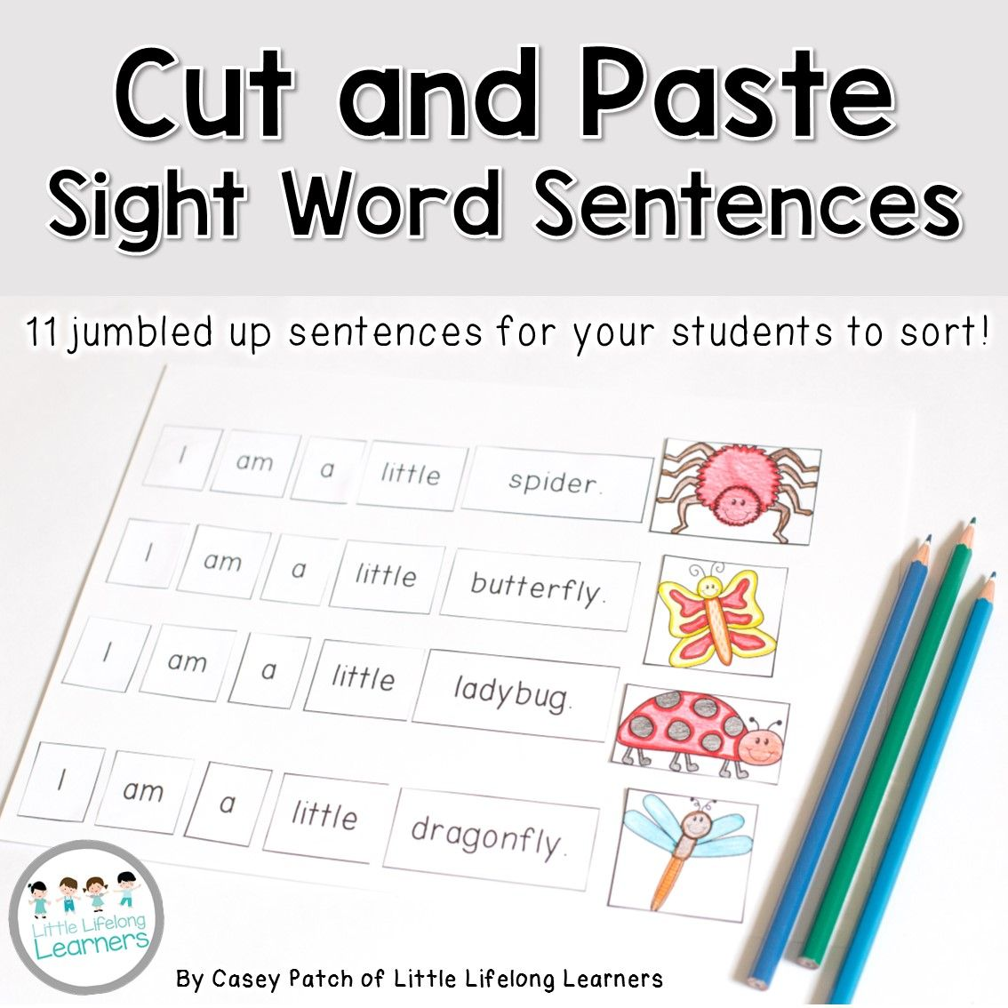 Sight Word Cut And Paste Sentences
