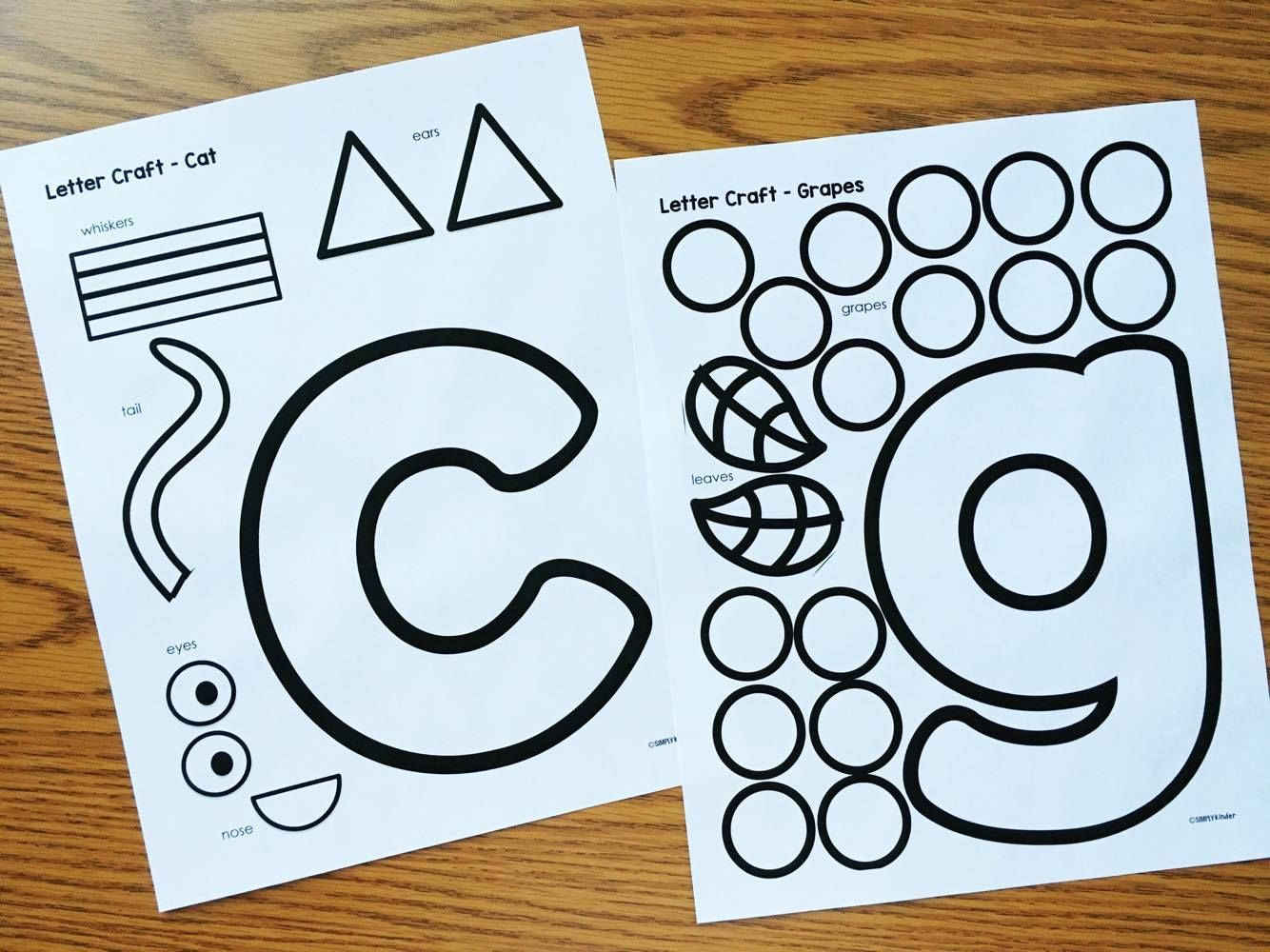 Alphabet Crafts Amp Printables Notebooks