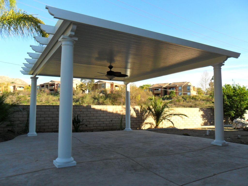 free standing solid alumawood patio