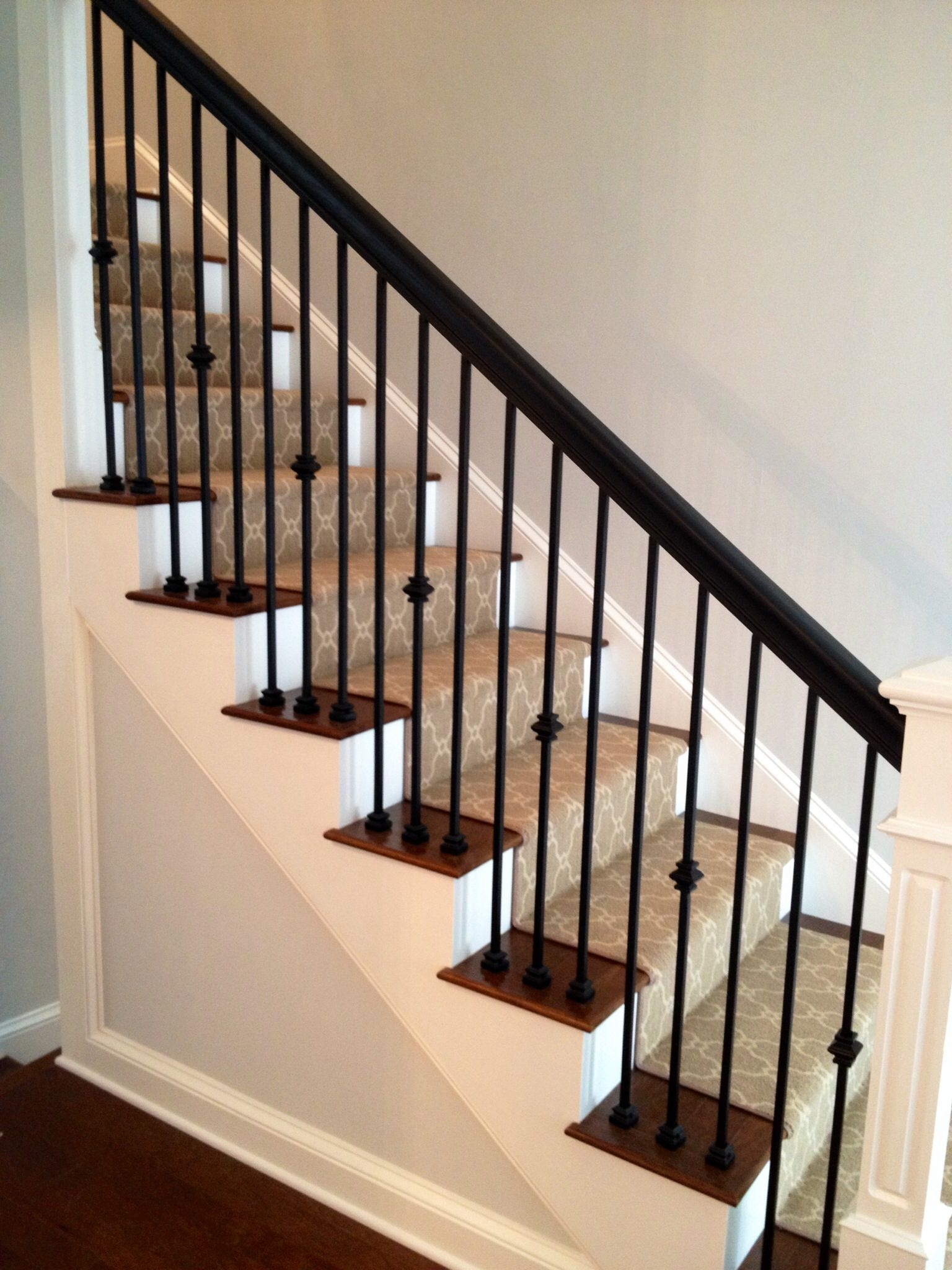 Jennifer Taylor Design Custom Staircase Iron Spindles | Black Metal Spindles For Staircase