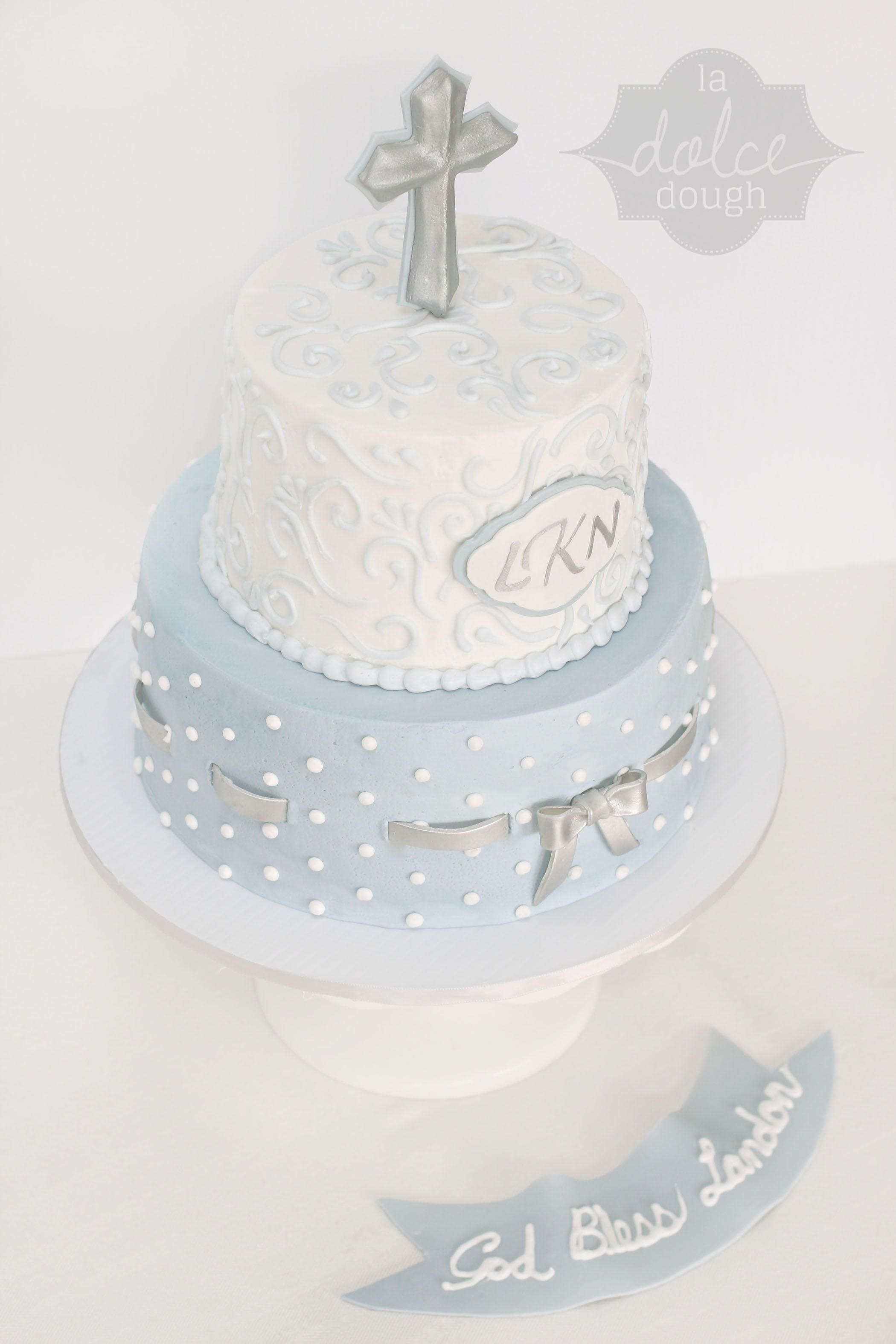 Boy Baptism Cakes
