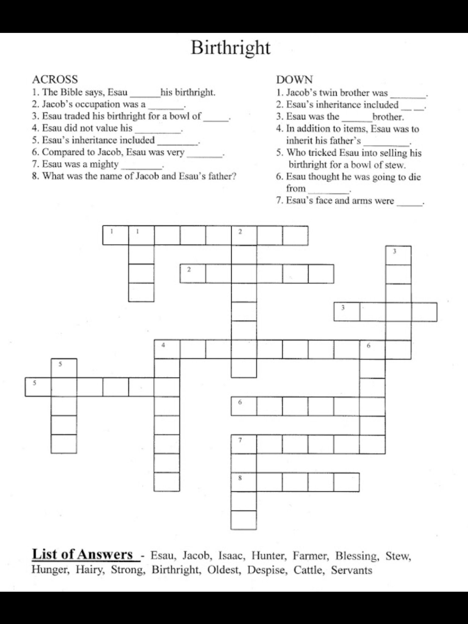 Crossword Puzzle Vbs